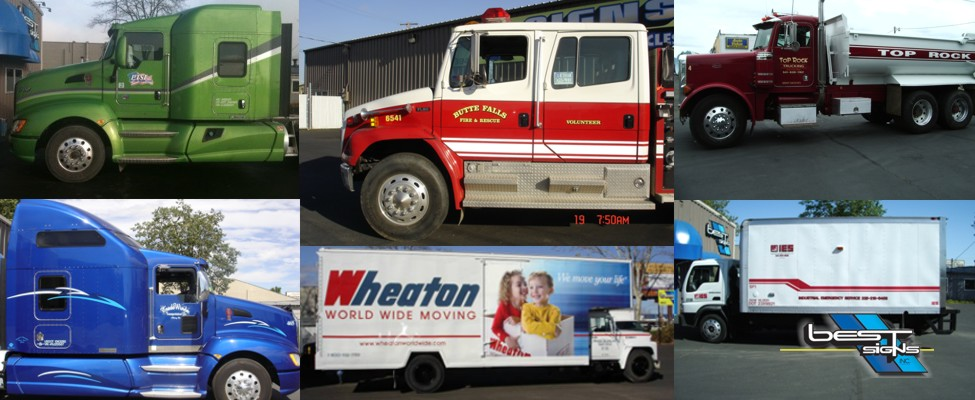 semi truck graphics decals outdoor medford oregon